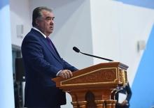 Суханронӣ ба муносибати ба истифода додани маҷмааи варзиш дар шаҳри Душанбе