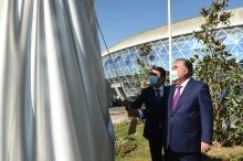 Сдача в эксплуатацию Дворца тенниса и комплекса водного спорта в городе Душанбе